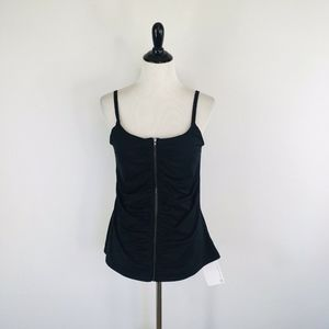 Fabletics Mia Shirred Zipper Tank Size Large